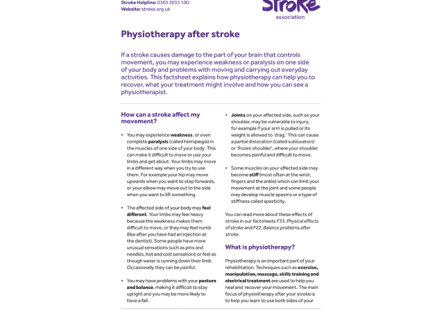 Image of physiotherapy after stroke publication