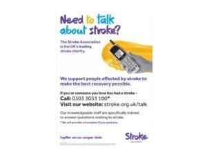 Image of stroke helpline poster