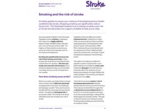 Image of smoking and the risk of stroke publication