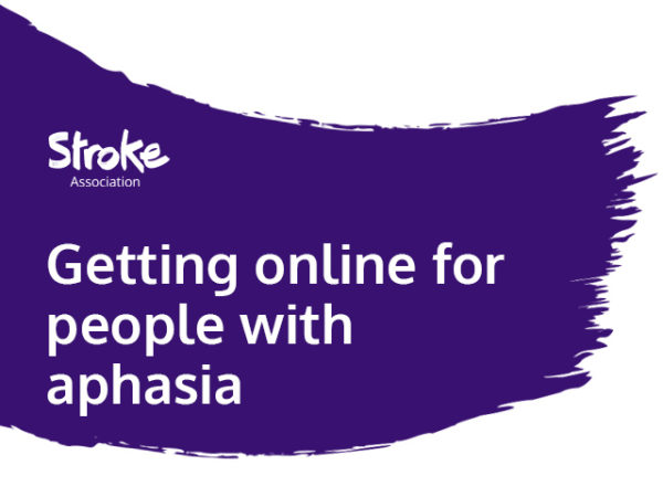 Text reads: getting online for people with aphasia