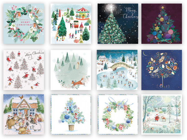 Collage of festive themed artwork