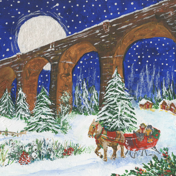 Homeward bound Christmas card